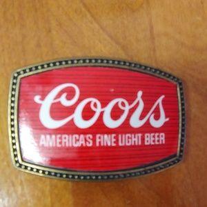 Coors belt Buckle